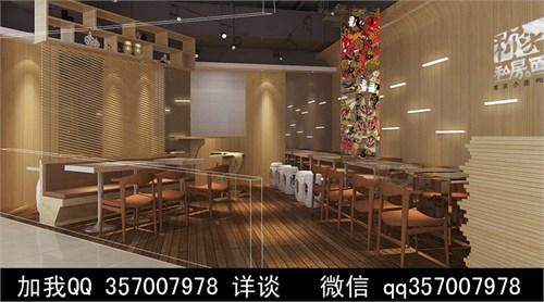 拉面馆 室内装修 餐馆效果图 普通餐馆        餐饮 面馆 小吃部