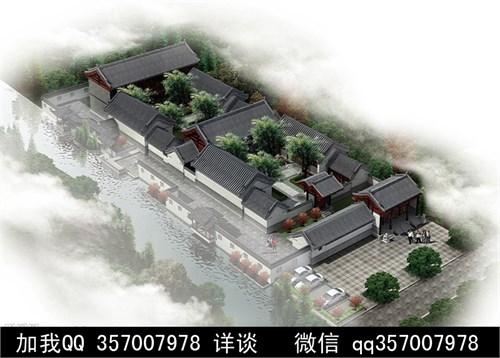 中式仿古建筑 四合院设计 古典建筑 民居 传统建筑 中式 庭院 住宅图片