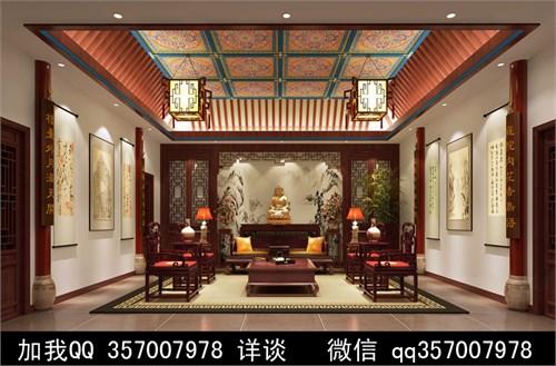 四合院设计案例效果图_美国室内设计中文网