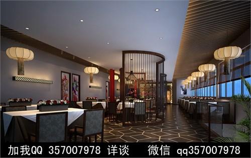 中式餐厅设计案例效果图