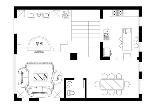 房子平面图画画简易