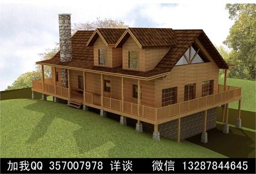 木结构别墅木屋设计案例效果图