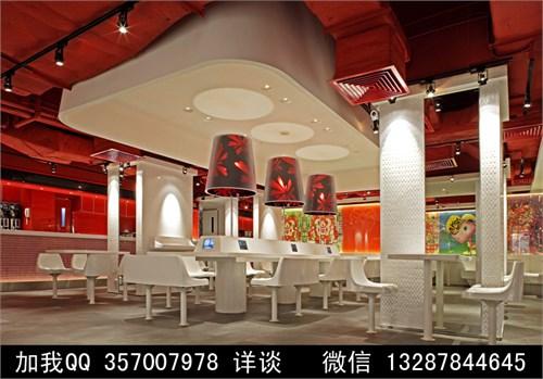快餐厅室内装饰设计案例效果图