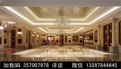 酒店大厅设计案例效果图2