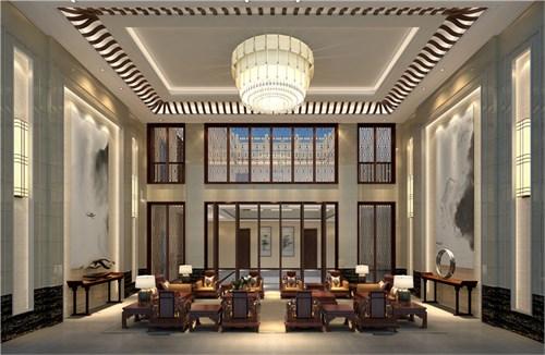 中式设计案例004:和园 新中式园林【一心设计组】图片