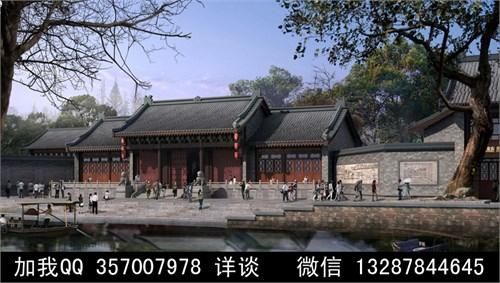 古建寺庙设计案例效果图_美国室内设计中文网