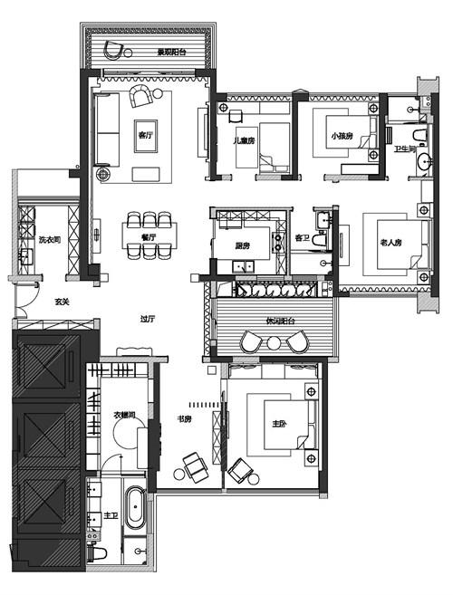 三厅平面设计图
