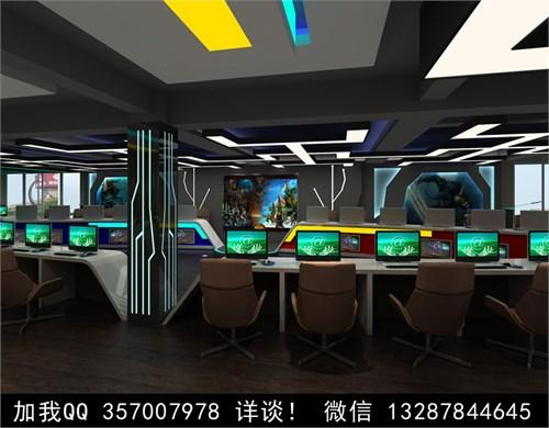 网吧设计案例效果图_美国室内设计中文网
