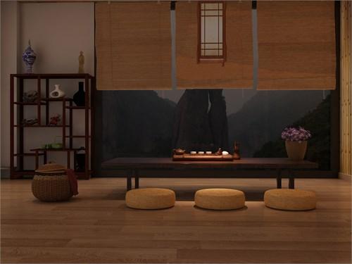 """中国地图海报_""""艺朵""""禅茶商业空间室内设计_美国室内设计中文网"""