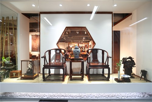 一心设计组   龙熙堂红木艺术展厅