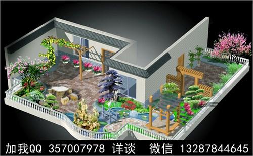 园林效果图景观效果图庭院效果图景观设计屋顶花园内廷效果图店标设计素材龙图片