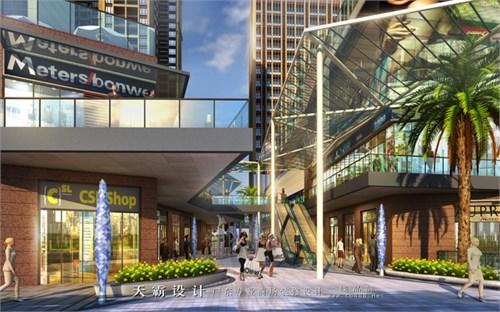 高端清晰美观城市综合体设计效果图由广东天霸设计分享