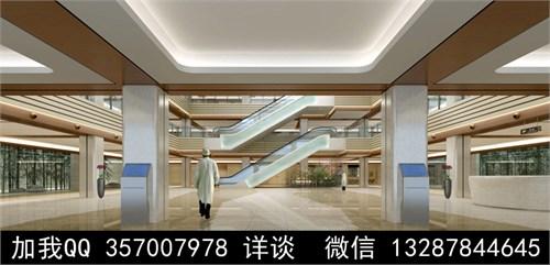 医院大厅设计案例效果图_美国室内设计中文网