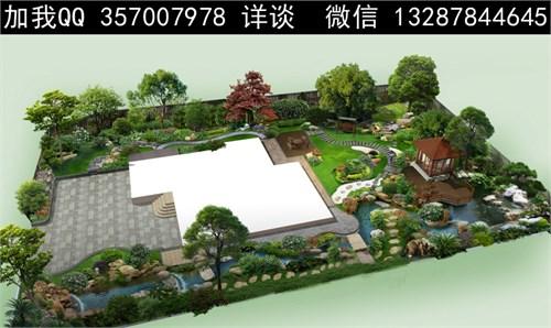 庭院景观设计案例效果图图片