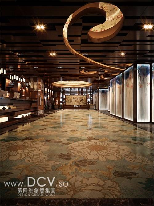 西安唯一的青花主题餐厅设计-太子轩(科技路杰座广场)