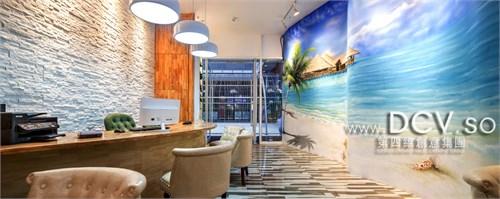 文化磚,手繪墻,混油飾面,乳膠漆 設計說明:     本案旅行社接待門市