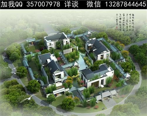 北京四合院 中式仿古建筑 古建筑 二进四合院 四合院鸟瞰图