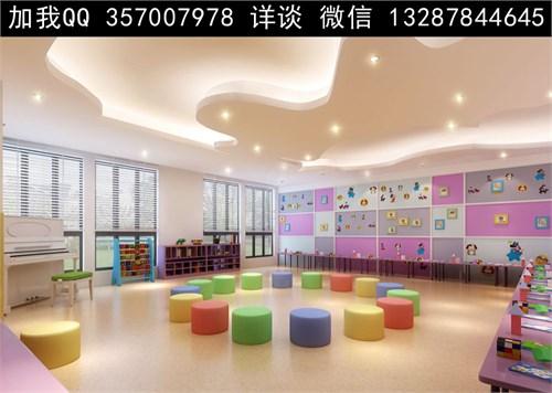 儿童活动室设计案例效果图