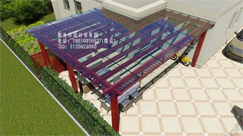 玻璃雨棚 葡萄架设计效果图
