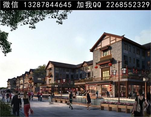 古建商业街设计案例效果图_美国室内设计中文网