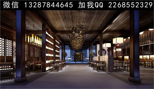 茶馆设计案例效果图_美国室内设计中文网