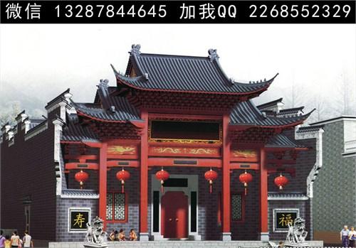 首页 69  设计师俱乐部 69 案例  祠堂 祖堂 宗祠 仿古建筑 门楼