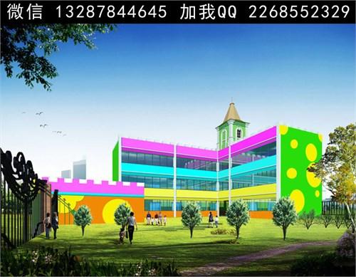 幼儿园建筑外观设计案例效果图