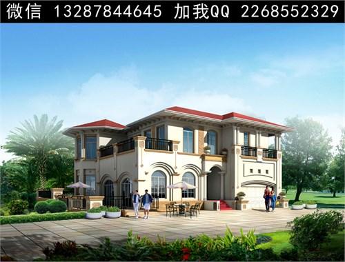 两层半别墅 三层别墅设计 别墅效果图 建房设计图 农村别墅图 盖房图