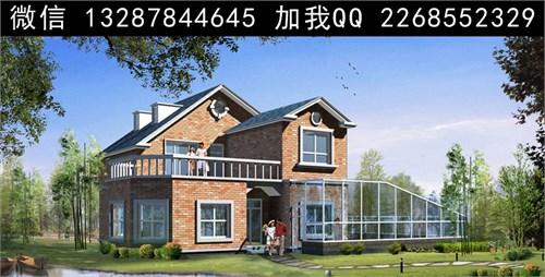 农村二层别墅盖房设计案例效果图_美国室内设计中文网图片