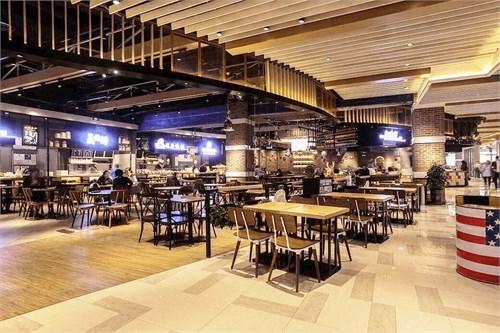 山东日照食通天美食广场设计_美国室内设计中文网